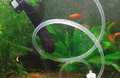 Aspirateur gravier sous tension pour aquariums