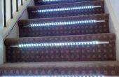 Internet activé lumières escalier interactif