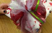Emballage de cadeaux de Noël rapide avec Tulle Bow