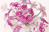 Fil et perles fleurs