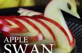 Faire un cygne en Apple comestibles !