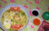 Soupe de nouilles de poulet (Soto Lamongan)