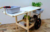 Cuisine mobile, une cuisine de remorque de vélo sur le gaz