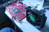 AMD CPU ventilateur de refroidissement sur une carte graphique PowerColor ATI Radeon X1650.
