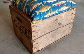 Récupéré la Caisse d'expédition en bois en siège roulant avec stockage