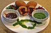 Escalopes de pommes de terre légumes farcis avec Chutney de Tamarin & coriandre et citron