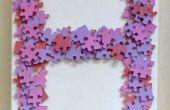 Jigsaw Puzzle Monogram sticker