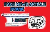 Fausses nouvelles Article blague