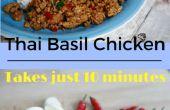 Poulet basilic thaï