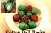 Les roches de boule de coton
