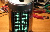Bâtiment IllyClock - réveil axée sur l'Arduino dans un bidon de café