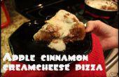 Pizza de dessert plat pomme-cannelle profond