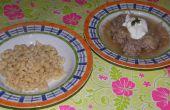 Boulettes de viande et de la soupe de choucroute (plat hongrois)