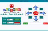 Pupitre de commande de Robot Arduino de programme avec visual basic