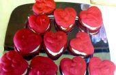 Red Velvet coeur en forme de Whoopie Pies