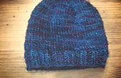 BRICOLAGE |  Tricoter un chapeau sans un modèle | Conception de base en toute simplicitée