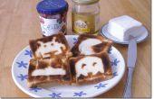 Mod, un grille-pain et avez toast art rétro pour le petit déjeuner