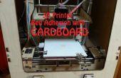 Carton : Imprimante 3D alternatif lit adhérence