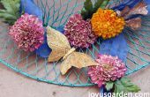 Une pièce maîtresse de l'été avec des fleurs de soie