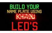 Nom de la plaque à l'aide de LED