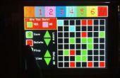 TFT tactile écran Animation moteur et contrôleur de matrice de LED RVB 8 x 8