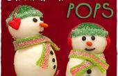 Bonhomme de neige Noël gâteau pop