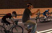 Course de vélo d'exercice virtuel