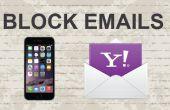 Bloquer les emails sur Yahoo Mobile App