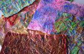Brun de papier « Tissu » Art