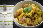 Orecchiette marocain avec boulettes de viande et de chou-fleur