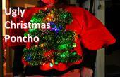 Arbre de Noël laid pull/Poncho s'allume