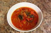 Soupe de légumes poulet noix de coco thaïlandaise
