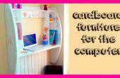 Crafts DIY : Comment faire un meuble en carton pour tutoriel informatique