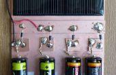 Un Simple chargeur solaire pour piles AA alcalines et de Nickel/métal hydrure