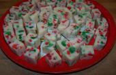 Fudge de Noël au chocolat blanc