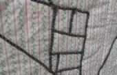 « Dessin » sur le tissu avec du fil (aka couchés)