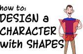 Conception d'un personnage de dessin animé avec des formes