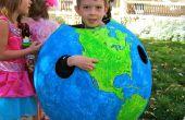 Globe Halloween Costume/géographie leçon