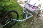 Poussette de jogging / hack de la remorque à vélo / conversion