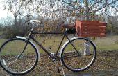 Panier de vélo en bois