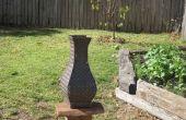 Vase de jardin Chequer plaque d'acier