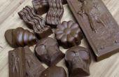 Chocolats au caramel rempli