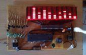 100 LED 10 bande Audio Spectrum atmega32 MSGEQ7 avec PIC tenir et tomber