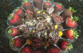Chocolat plongé fruits et grappes