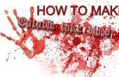 Comment faire mangeable faux sang
