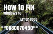 Comment réparer Windows 10 Code d'erreur 0 x 80070490