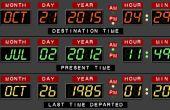 Retour au futur bureau calendrier