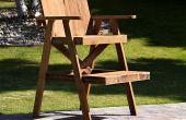 Sauveteur chaise de bois recyclé