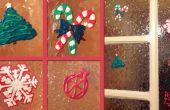 Décorations de fenêtre de Noël peinture gonflés réutilisable