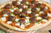 Spaghetti et boulettes de viande Pizza
